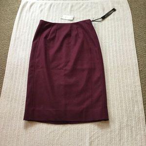 NWT *White House Black* Market Maroon Pencil Skirt